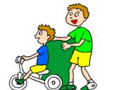 Disegno Triciclo pitturato su REBECCA