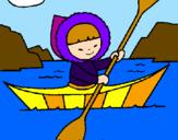 Disegno Canoa eschimese  pitturato su Sofia03rom.