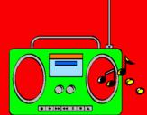 Disegno Radio cassette 2 pitturato su lorenzo