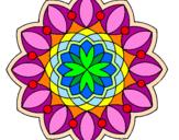 Disegno Mandala 3 pitturato su mondale1