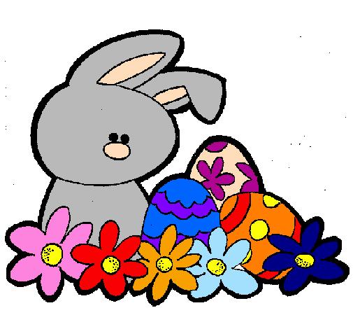Disegno coniglietto di pasqua colorato da utente non for Coniglio disegno per bambini