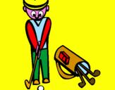 Disegno Golf II pitturato su MARIO