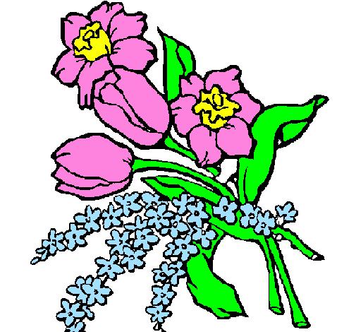 disegno mazzo di fiori colorato da utente non registrato