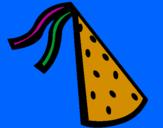 Disegno Cappello compleanno pitturato su BENEDETTO