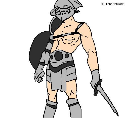 Disegno Gladiatore Colorato Da Utente Non Registrato Il 07