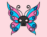 Disegno Emo Farfalla pitturato su anastasia