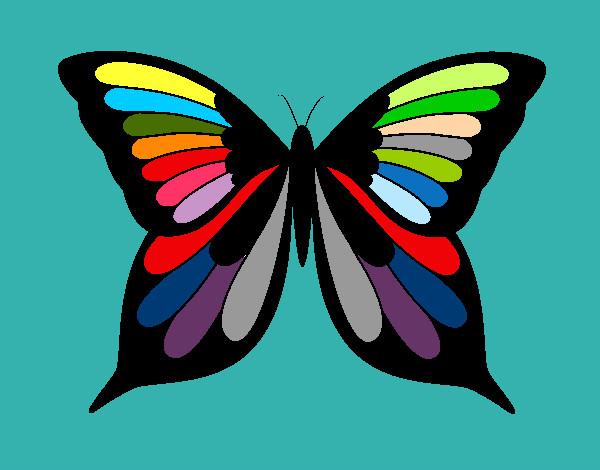 Disegno farfalla colorato da marigenny il 12 di febbraio - Immagini di farfalle a colori ...