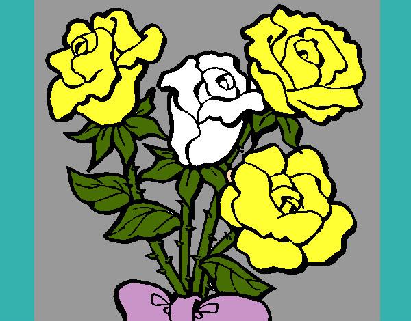 Disegno mazzo di rose colorato da walviolet il 10 di for Disegni del mazzo del cortile anteriore