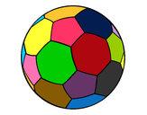 Disegno Pallone da calcio II pitturato su ale02
