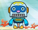 Disegno Robot Galaxy pitturato su mora