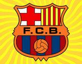 Disegno Stemma del FC Barcelona pitturato su armani