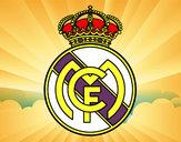 Disegno Stemma del Real Madrid C.F. pitturato su jorjorjor