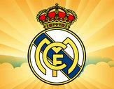Disegno Stemma del Real Madrid C.F. pitturato su xavi