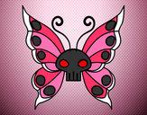 Disegno Emo Farfalla pitturato su gabriel