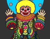 Disegno Pagliaccio mascherato  pitturato su marigenny