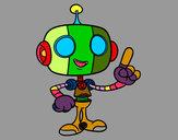 Disegno Robot amichevole pitturato su Alex
