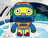 Disegno Robot Galaxy pitturato su marty