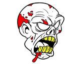 Disegno Testa di zombie pitturato su allenatore