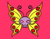 Disegno Emo Farfalla pitturato su lara06