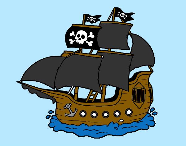Disegno nave pirata colorato da leon il 24 di febbraio del - Pirata immagini da colorare i pirati ...