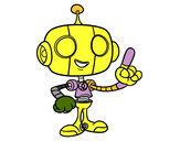 Disegno Robot amichevole pitturato su Luca