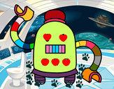 Disegno Robot con braccia lunghe pitturato su gabrydiddi