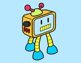 Disegno TV Robot pitturato su MATTIA747