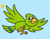 Disegno Uccello che vola pitturato su MATTIA747