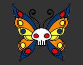 Disegno Emo Farfalla pitturato su Luca