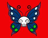 Disegno Emo Farfalla pitturato su ruggero