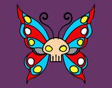 Disegno Emo Farfalla pitturato su WalViolet