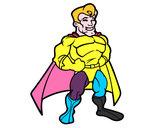 Disegno Muscoloso supereroe pitturato su ARCANGELO