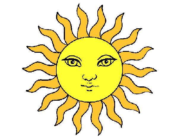 Disegno il sole in cielo colorato da diego il 27 di for Sole disegno da colorare