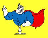 Disegno Superhero pitturato su vincy1997