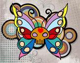 Disegno Emo Farfalla pitturato su anto1978