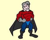 Disegno Muscoloso supereroe pitturato su Danielsun