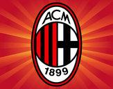 Disegno Stemma del AC Milan pitturato su giadi100