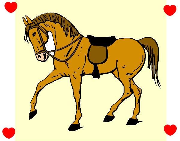 Disegno cavalli la mia vita colorato da for Cavallo stilizzato
