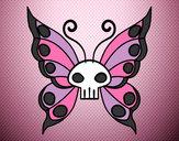 Disegno Emo Farfalla pitturato su Sirikitty