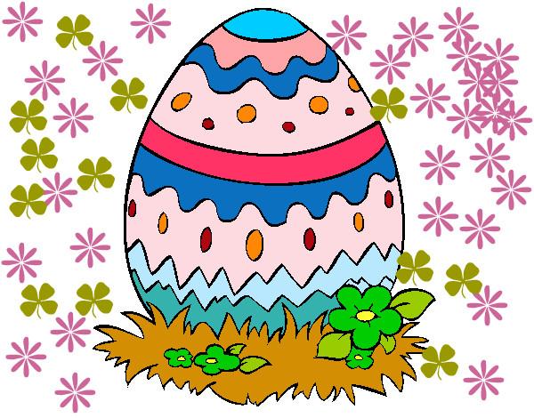 Favorito Disegno Uovo di Pasqua 2 colorato da Cicofuent il 18 di Marzo del 2012 SD72