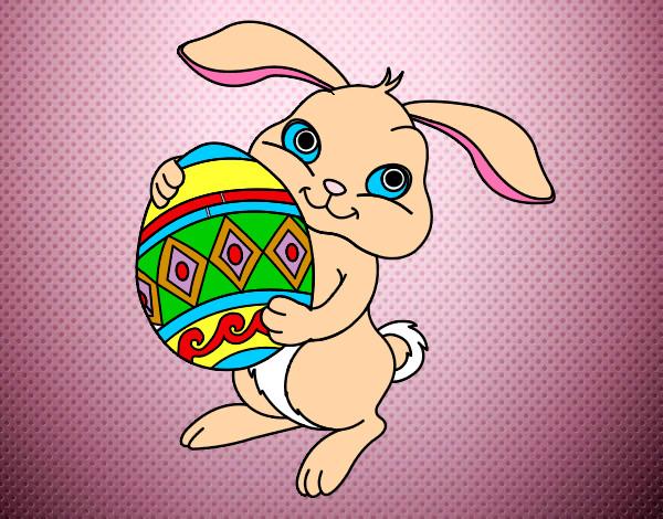 Disegno coniglio pasquale colorato da anastasiaa il 25 di for Coniglio disegno per bambini