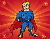 Disegno Muscoloso supereroe pitturato su Axxelf