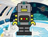 Disegno Robot alto pitturato su Elisa