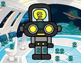 Disegno Robot con luce pitturato su Elisa