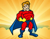 Disegno Muscoloso supereroe pitturato su robertobos