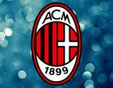 Disegno Stemma del AC Milan pitturato su lucale