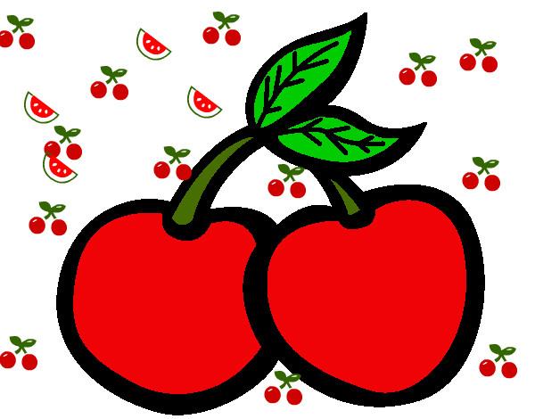 Disegno ciliegie iii colorato da rosinha il 03 di aprile for Disegni da colorare ciliegie