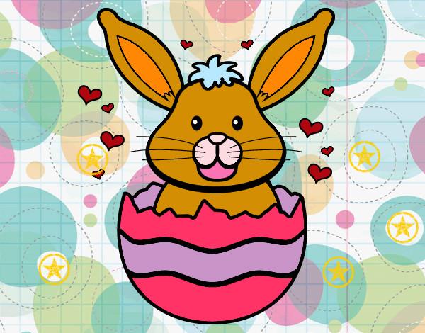 Disegno il coniglio pasquale colorato da gabri il 04 di for Disegno coniglio per bambini