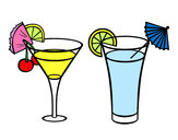 Disegno Due cocktail pitturato su AdriEChia