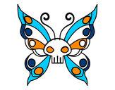 Disegno Emo Farfalla pitturato su ALICESP